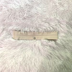 Lululemon swiftly headband one size off white